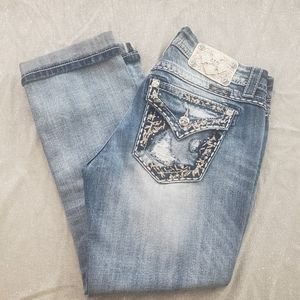 Miss Me Mid Rise Easy Cropped Jeans